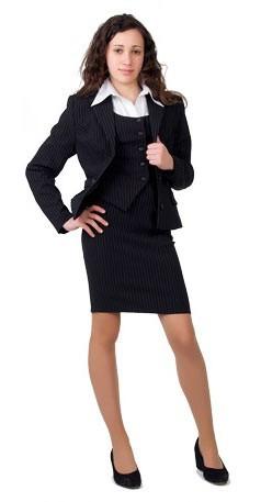 Школьная форма для девочек, состоит из жакета, жилета, юбки и брюк